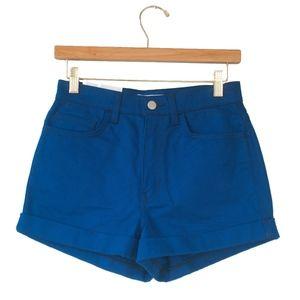 NWT American Apparel High Waisted Cuffed Shorts